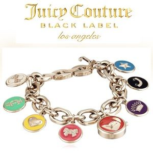 NWT Juicy Couture Black Label Multi Charm Watch